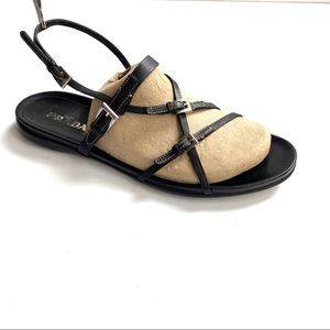 Authentic Prada Black Leather Strappy Sandal 10.5